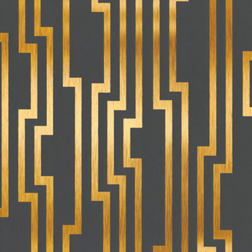 WALLPAPER VELOCITY GOLD ON GREY