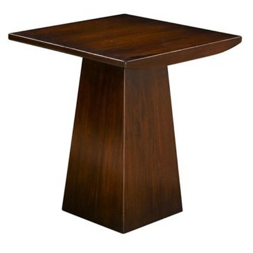 Wood Plank Top Accent Table Set
