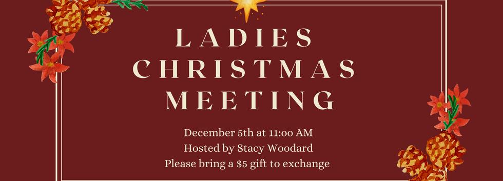 Ladies Christmas Meeting