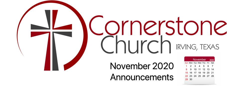 Nov Announcements