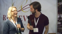 Interviewing local wine producers