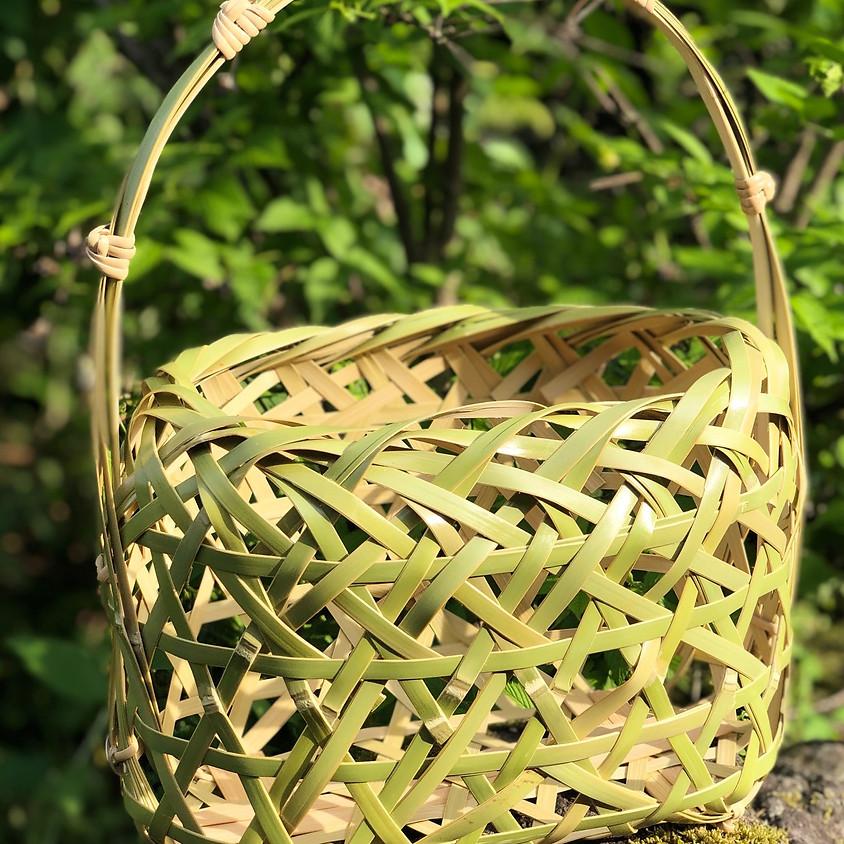 竹の手さげ篭づくり/Bamboo Handbag Workshop in Mashiko (1)