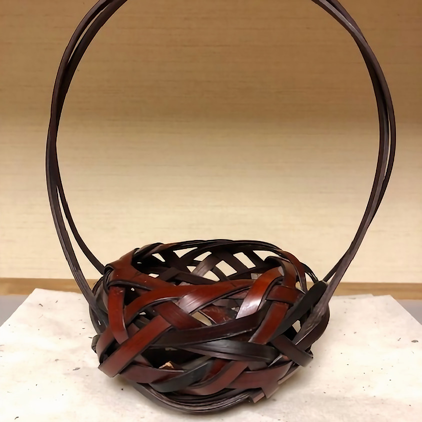 小花入篭体験教室1/Flower Basket Workshop 1