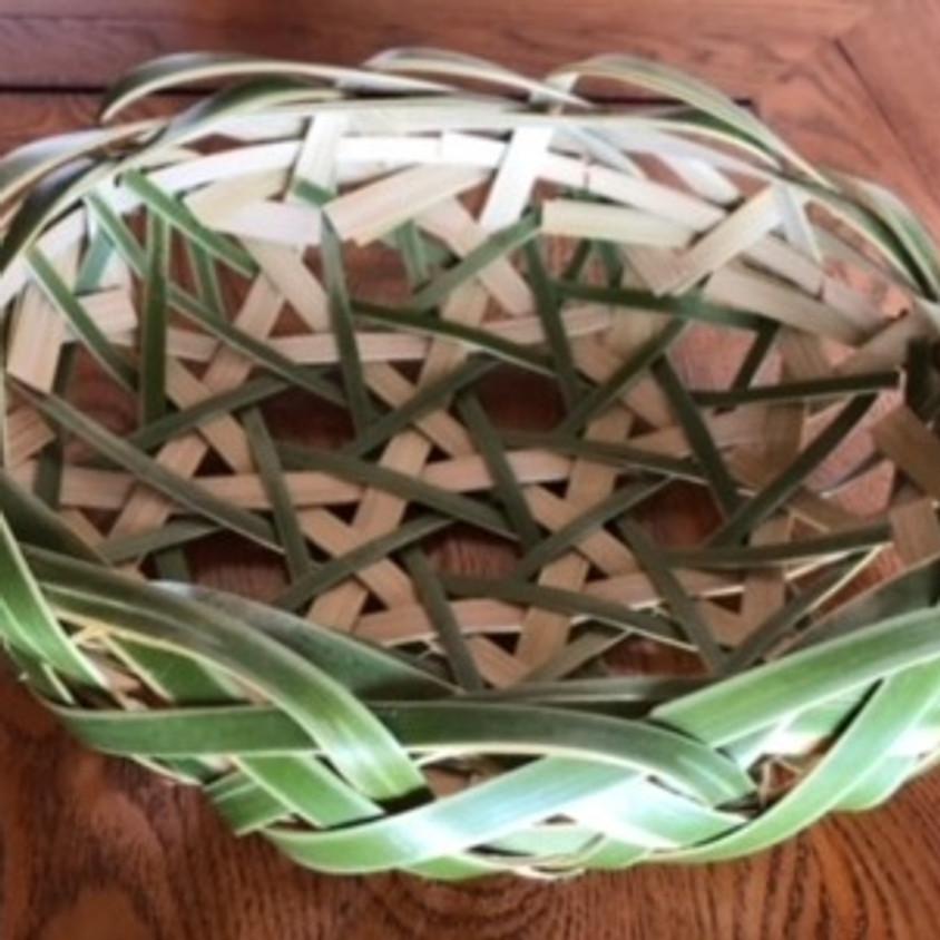青竹の盛篭づくり/Serving Basket Workshop