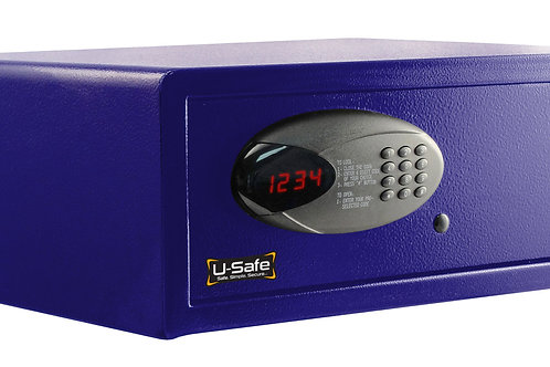 Laptop Safe with Built-in Charging Outlet 1.5 cu. ft - Purple