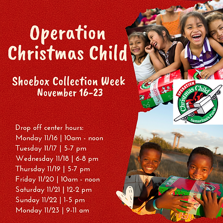 Operation Christmas Child Shoebox Collec
