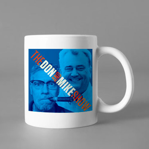 Mug with Don and Mike's mug on it