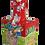 Thumbnail: bottiglia firmata base rettangolare e collo lungo cm 8x8x25