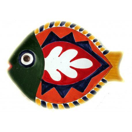 piatto pesce decoro 1 grande cm 40 x 28