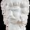 Thumbnail: Coppia teste di moro bianche h 30 cm circa