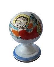 pallina di Natale con piedistallo diametro 8