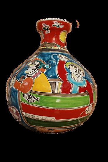 vaso H 35 cm scene assortite