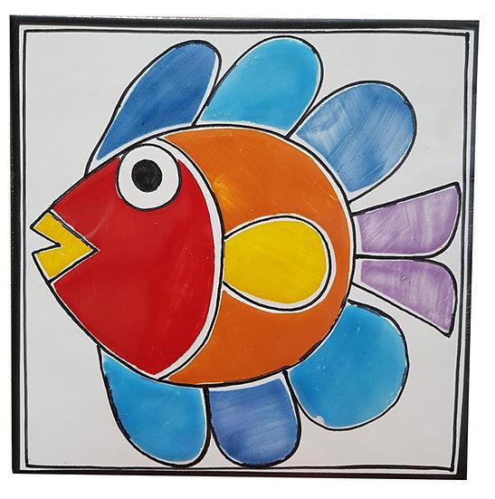 piastrella cm 15 x 15 art. 297 Pesce