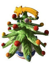 albero di Natale con piedistallo cm 10