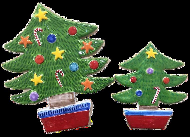alberi di Natale bassorilievo