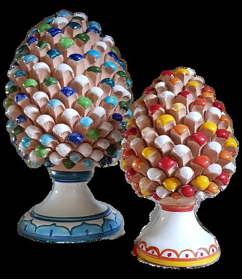 Pigne decorative di varie misure e colori