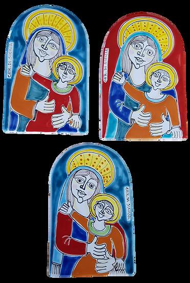 pannello madonna 477 A OV 16 x 10