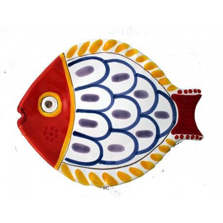 piatto pesce decoro 3 grande cm 40 x 28