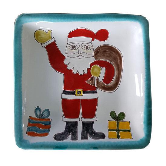 piatti bordo verde con temi natalizi