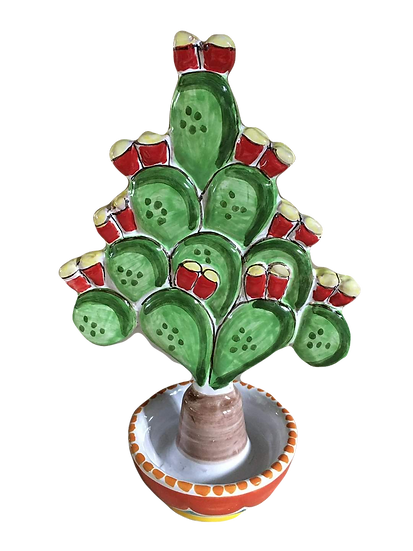 fico d'india albero di Natale h 20 cm