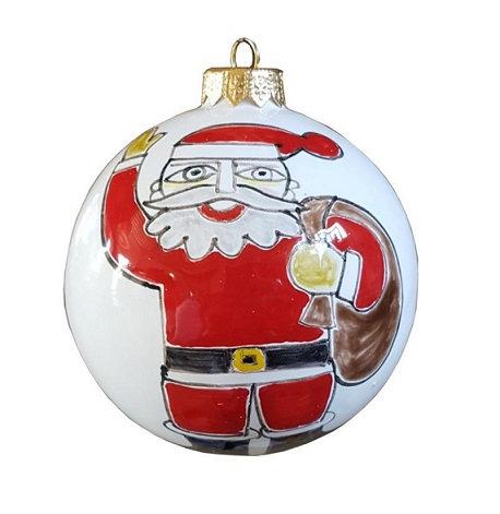 pallina di Natale diametro 8 vari decori