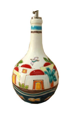 bottiglia per l'olio varie forme e decori