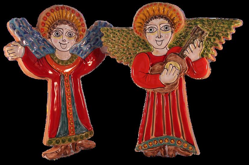 angeli ritagliati bassorilievo cm 20