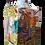 Thumbnail: bottiglia firmata base quadrata collo lungo cm 18x18x45