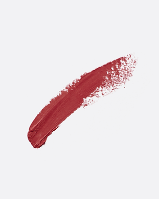 Red Lippenstift verschmieren