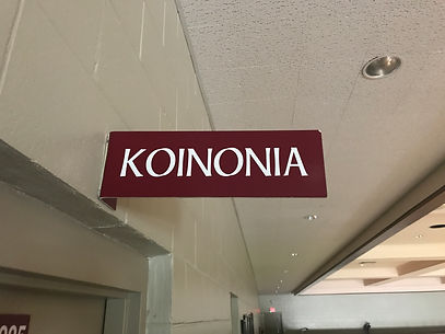 Koinonia class sign.JPG