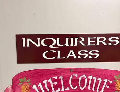 Inquirers Class Sign.JPG