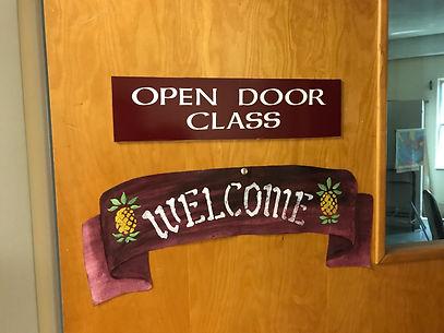 Open Door Class Sign.JPG