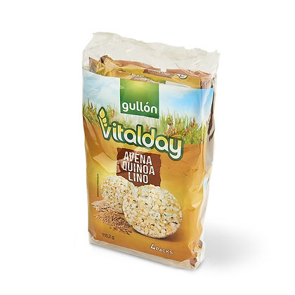 Vitalday galettes d'avoine, quinoa et lin