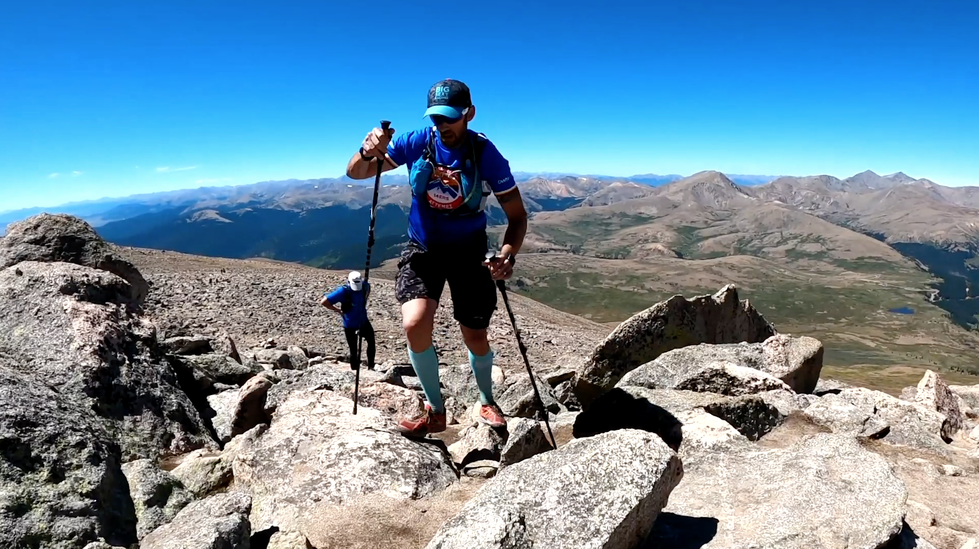 Chris breaking Colorado 14er world record