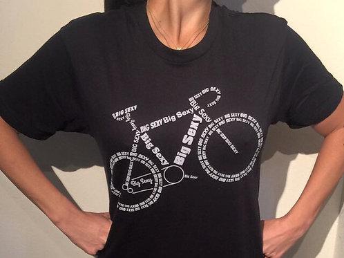 Navy Blue Big Sexy Bike Shirt