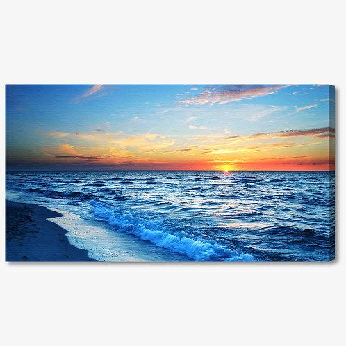 M320 - Quadro moderno mare al tramonto