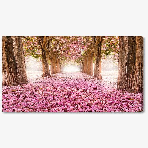 M1108 - Quadro moderno tappeto di fiori rosa