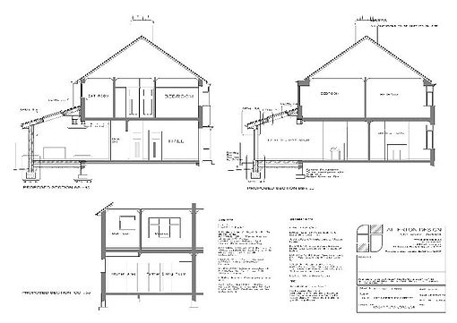 Single Storey Extenson Sections