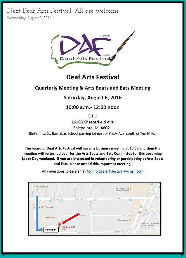 August 6 meeting