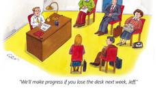 Lose the desk, Jeff