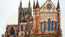 Hereford cathedral back view