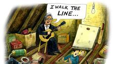 Johnny Cash in attic