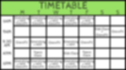 ESTR timetable