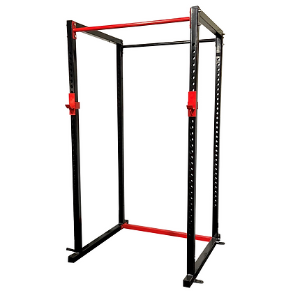 Black and Red Powder Coated Power Rack