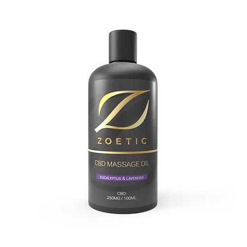 Zoetic 250 mg d'Huile de Massage 100ml - Eucalyptus & Lavande