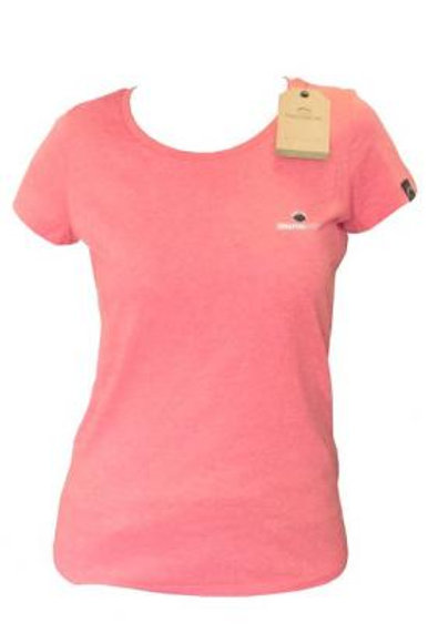 T-shirt small logo Fille rose