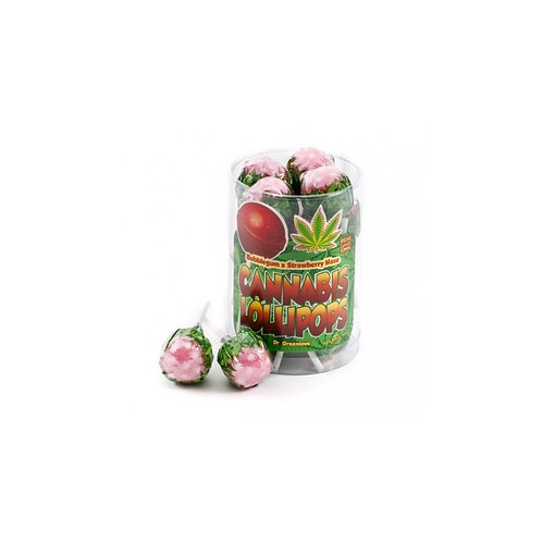 Sucette bubble gum /strawberry