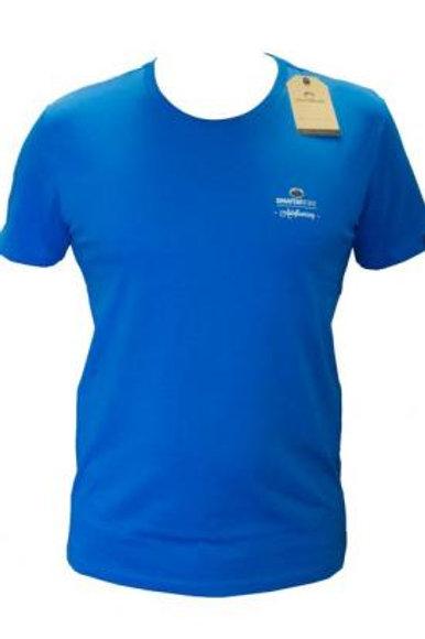 T-shirt petit logo bleu