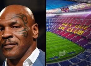 Sport :Mike Tyson veut rebaptiser le stade du Barça d'après sa marque de cannabis