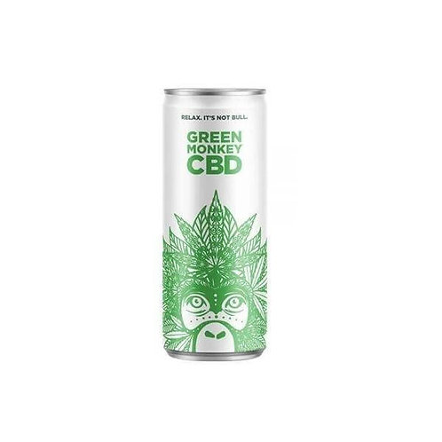 Green Monkey Boisson Gazeuse au CBD 250 ml x24